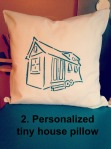 turqouise tiny house pillow wo personalization blog